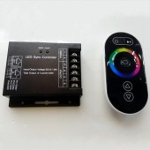 12V 24V RGB LED Sync Controller with Touch Panel RF Remote Control