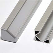 """39"""" Aluminum L Tracking Extrusion Extruded Mounting Channel For LED Strips"""