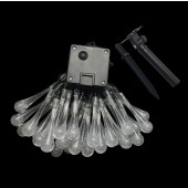 6M 30LEDs Solar Lamps Solar Water Drop String Lights Waterproof