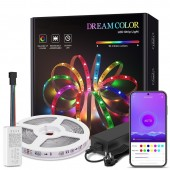 RGB WS2811 Strip LED Lights with APP Bluetooth IOS Android Control Lighting Full Set