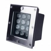 12W Inground Deck Wall Floor Landscape Lamp LED Underground Light Square