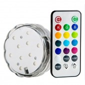 Submersible RGB LED Light with IR Remote Vases Plinth Waterproof