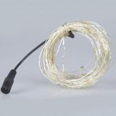10M 100 LEDs DC 12V Fairy Light Copper Sliver Wire LED String