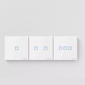 Sonoff Wall Touch Switch T1UK Wifi Timer Glass Panel APP/RF/Voice Remote Control