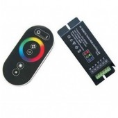 RF Remote Steel Case 8 Keys Touch RGB LED Controller 12V 24V