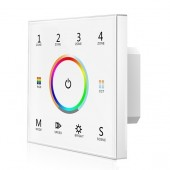 Skydance T15 LED Controller 4 Zones 2.4G RGB+ Color Temperature Touch Panel Remote 85-265V