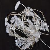 White Snowflake 7ft 2M 20 LED Copper Wire String Fariy Light Battery Powered 5pcs